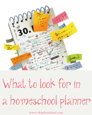 getting a homeschool planner