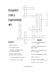 Printables Periodic Table Crossword Puzzle Worksheet periodic table crosswords skip the school download our crossword puzzles 2 of em