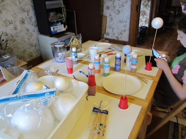 homeschool solar system project