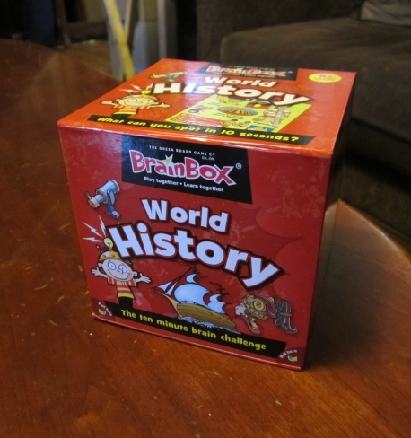 review of brain box history game for homeschool