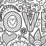 valentine's coloring pages