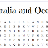secular geography word search printables for homeschool