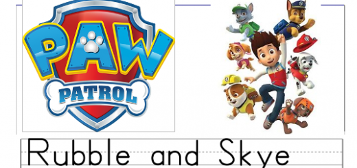 paw patrol print worksheets