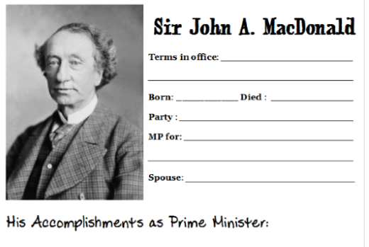 canadian prime minister notebooking homeschool