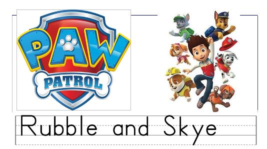 paw patrol print worksheets