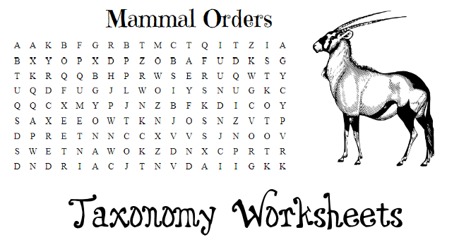 secular homeschooling printables on taxonomy and biology